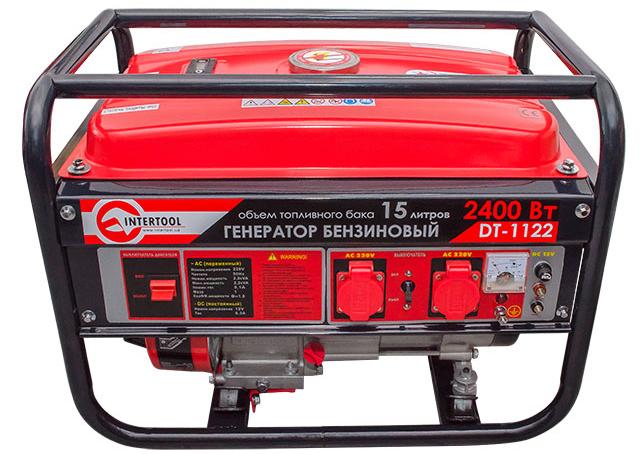 Бензиновый генератор INTERTOOL DT-1122 с мощностью (2,4 кВт. 5,5 л.с., 4-х тактный) изображение, фото